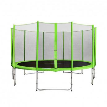 Trampoline de jardin vert avec renforts MyJump 4,30 M