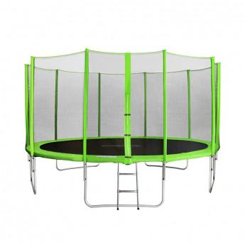Trampoline de jardin vert avec echelle MyJump 4,30 M