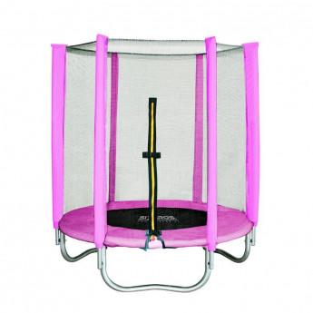 Trampoline de jardin rose MyJump 1,40 M