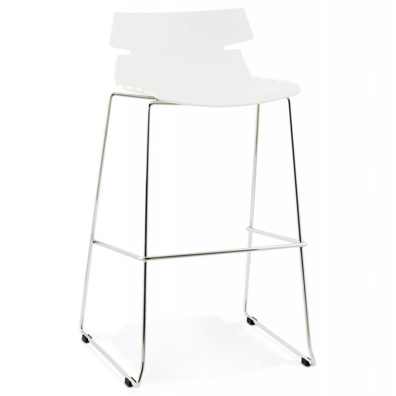 tabouret de bar design reny blanc. Black Bedroom Furniture Sets. Home Design Ideas