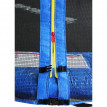 Trampoline de jardin bleu avec renforts MyJump 1,85 M
