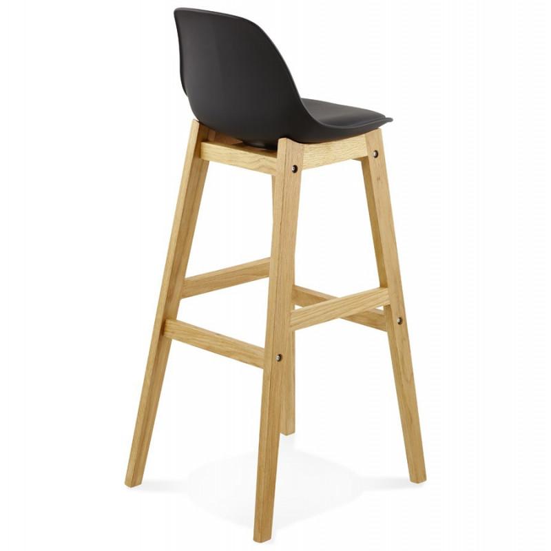 tabouret de bar design elody noir. Black Bedroom Furniture Sets. Home Design Ideas