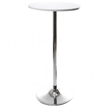 Table bar design LILA Blanche