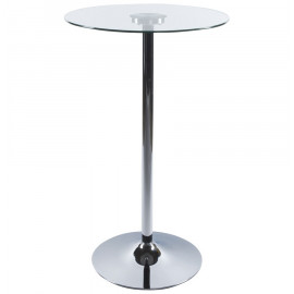 Table bar design STAND en verre transparent