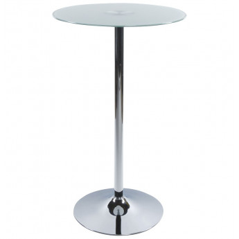 Table bar design STAND en verre opaque