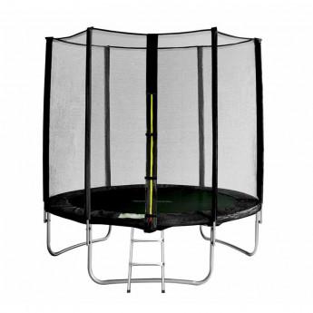 Trampoline de jardin avec echelle noir MyJump 1,85 M