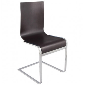 Chaise design SOFT Marron foncé
