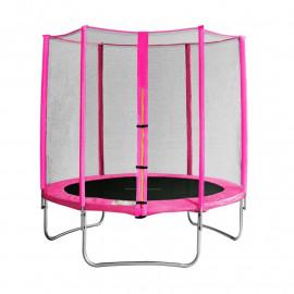 Trampoline de jardin rose MyJump 1,85 M
