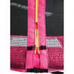 Trampoline de jardin rose avec renforts MyJump 1,85 M