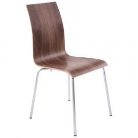 Chaise design CLASSIC Bois foncé