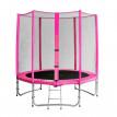 Trampoline de jardin rose avec echelle et renforts MyJump 1,85 M