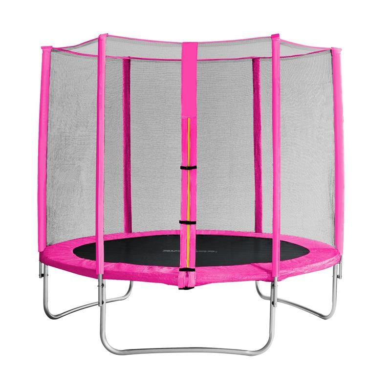 trampoline de jardin rose myjump 2 45 m. Black Bedroom Furniture Sets. Home Design Ideas