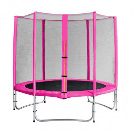 Trampoline de jardin rose avec renfortsMyJump 2,45 M