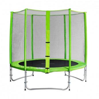 Trampoline de jardin vert avec renforts MyJump 2,45 M