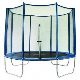 Trampoline de jardin bleu MyJump 2,95 M Polygone