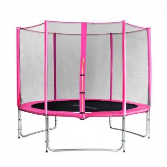 Trampoline de jardin rose avec renforts MyJump 3,05 M