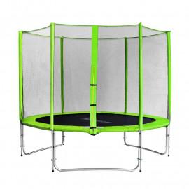 Trampoline de jardin vert avec renfortsMyJump 3,05 M