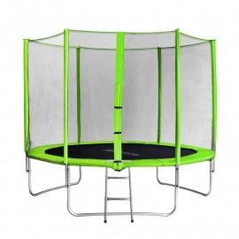 Trampoline de jardin vert avec echelle MyJump 3,05 M