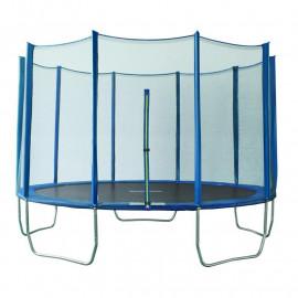 Trampoline de jardin bleu MyJump 3,65 M Polygone
