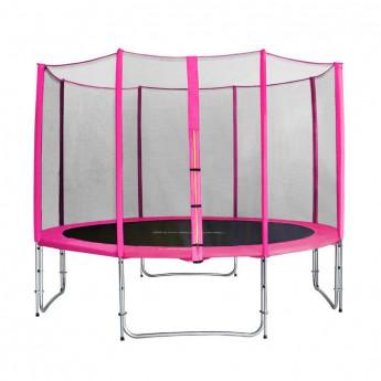 Trampoline de jardin rose avec renfortsMyJump 3,70 M