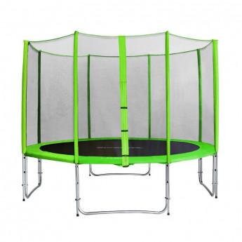 Trampoline de jardin vert avec renforts MyJump 3,70 M