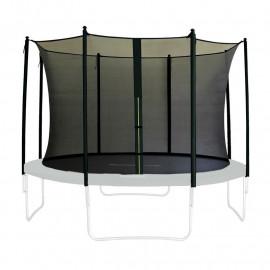 Filet de sécurité de rechange noir V2 pour trampoline de jardin 1,85 M - 4,60 M