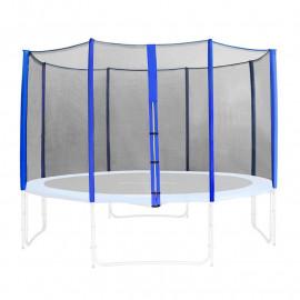 Filet de sécurité de rechange bleu pour trampoline de jardin 1,85m - 4,60m