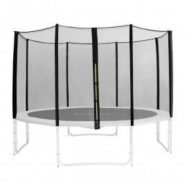 Filet de sécurité de rechange noir pour trampoline de jardin 1,85 M - 4,60 M