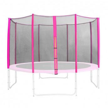 Filet de sécurité de rechange rose pour trampoline de jardin 1,85 M - 4,60 M