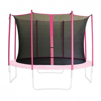 Filet de sécurité de rechange rose pour trampoline de jardin 1,85m - 4,60m