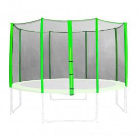 Filet de sécurité de rechange vert pour trampoline de jardin 1,85 M - 4,60 M