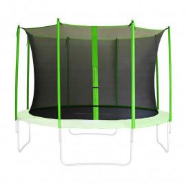 Filet de sécurité de rechange vert pour trampoline de jardin 1,85m - 4,60m