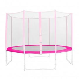 Tour de protection de rechange rose pour trampoline de jardin - 1,85m - 4,60m