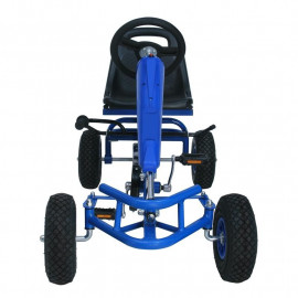 MiniKart voiture à pédales pour enfants bleu