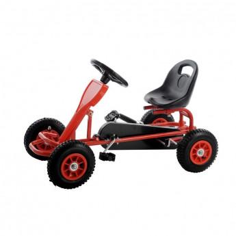 MiniKart voiture à pédales pour enfants rouge