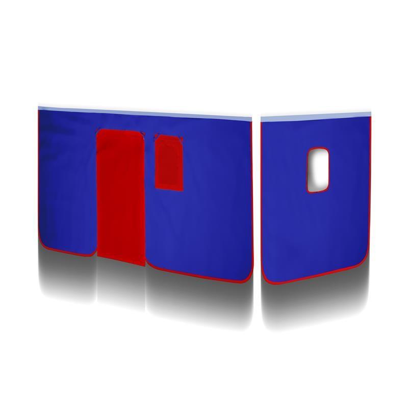 rideaux bleu rouge v2 pour lit sur lev. Black Bedroom Furniture Sets. Home Design Ideas