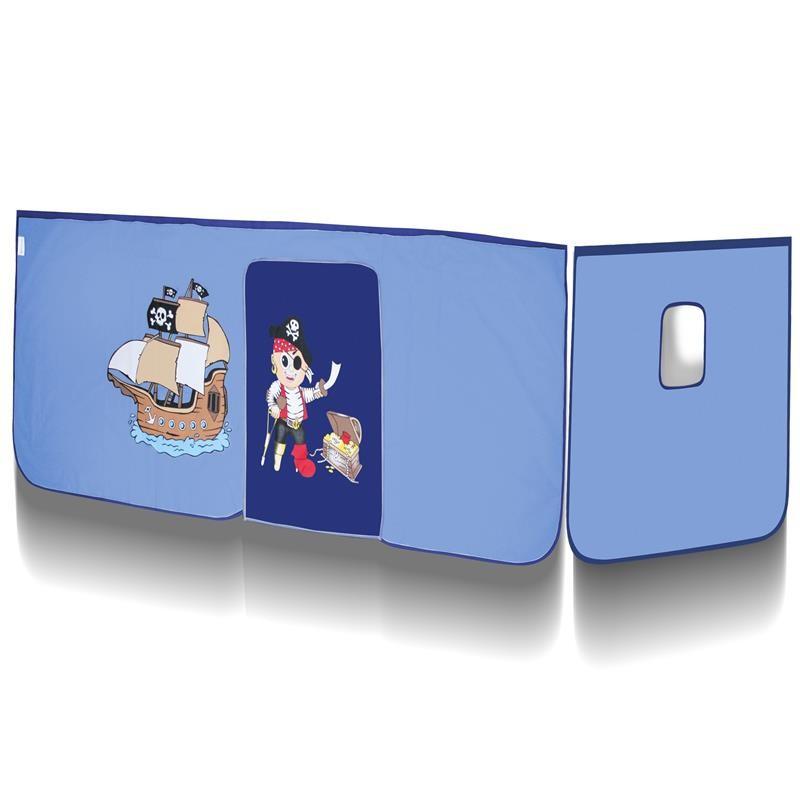 rideaux pirate bleu pour lit sur lev. Black Bedroom Furniture Sets. Home Design Ideas