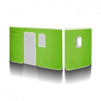 Rideaux Vert/Blanc pour Lit surélevé