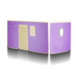 Rideaux Violet/Beige pour Lit surélevé