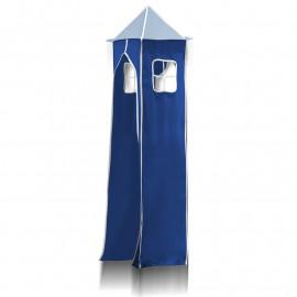 Tour pour lit surélevé (tissu + cadre métallique) - Bleu ciel/ bleu