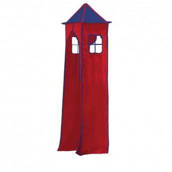 Tissu de La tour et son cadre métallique - Couleur Bleu/ Rouge pour Lit surélevé