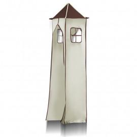 Tour pour lit surélevé (tissu + cadre) - Pirate (marron/beige)