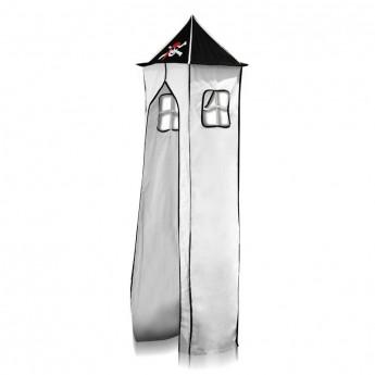 Tissu de La tour et son cadre métallique- Pirate ( noir/Blanc) pour Lit surélevé