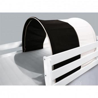 Tunnel / grotte pour lit surélevé - Lit de jeu blanc / noir