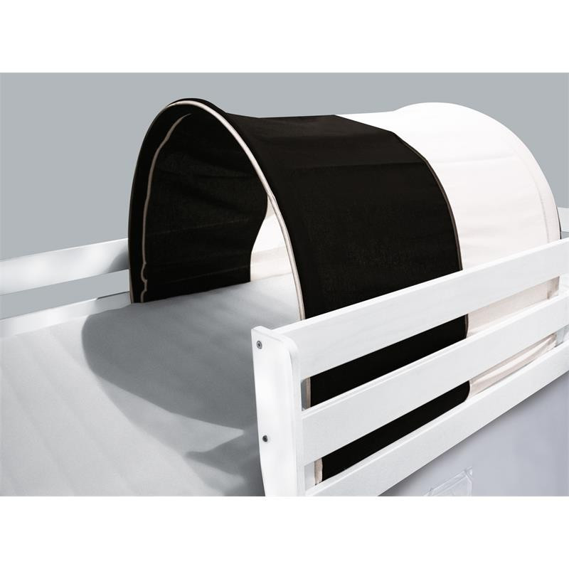 tunnel grotte pour lit sur lev lit de jeu blanc noir. Black Bedroom Furniture Sets. Home Design Ideas