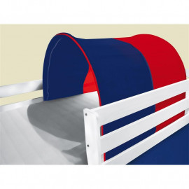 Tunnel / grotte pour lit surélevé - Lit de jeu bleu/rouge