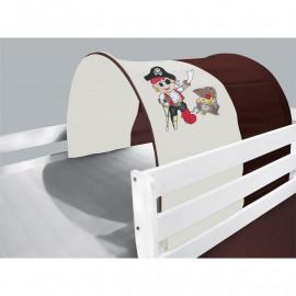 Tunnel / grotte pour lit surélevé - Lit de jeu Pirate marron/beige