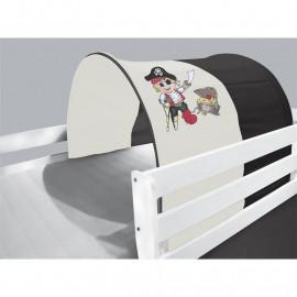 Tunnel / grotte pour lit surélevé - Lit de jeu Pirate nero/beige