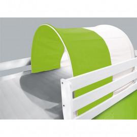 Tunnel / grotte pour lit surélevé - Lit de jeu vert/blanc