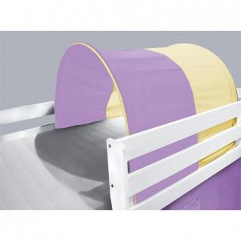 Tunnel / grotte pour lit surélevé - Lit de jeu violet/beige
